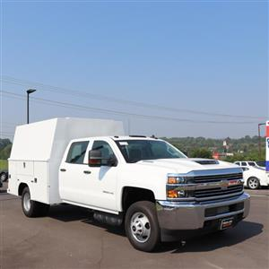 2018 Silverado 3500 Crew Cab DRW 4x4,  Reading Panel and Tapered Panel Service Utility Van #JF263292 - photo 36