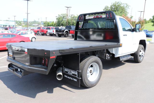 2018 Silverado 3500 Regular Cab DRW 4x4,  Reading Redi-Dek Platform Body #JF290666 - photo 4