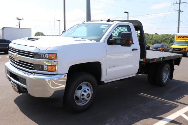 2018 Silverado 3500 Regular Cab DRW 4x4,  Reading Redi-Dek Platform Body #JF290666 - photo 1