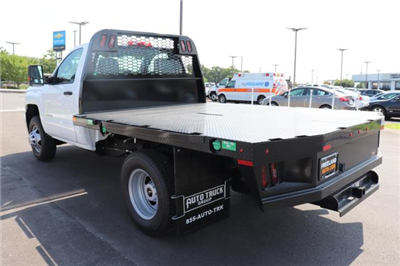 2018 Silverado 3500 Regular Cab DRW 4x4,  Reading Redi-Dek Platform Body #JF290666 - photo 2