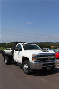 2018 Silverado 3500 Regular Cab DRW 4x4,  Reading Redi-Dek Platform Body #JF290666 - photo 26