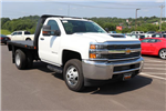 2018 Silverado 3500 Regular Cab DRW 4x4,  Reading Redi-Dek Platform Body #JF290666 - photo 3