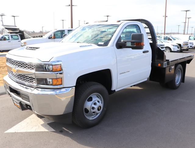 2019 Silverado 3500 Regular Cab DRW 4x4,  Reading Redi-Dek Platform Body #KF159230 - photo 1