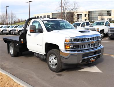 2019 Silverado 3500 Regular Cab DRW 4x4,  Reading Redi-Dek Platform Body #KF159230 - photo 4