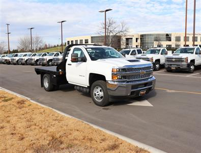 2019 Silverado 3500 Regular Cab DRW 4x4,  Reading Redi-Dek Platform Body #KF159230 - photo 5