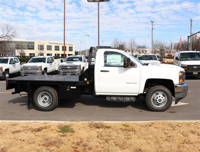 2019 Silverado 3500 Regular Cab DRW 4x4,  Reading Redi-Dek Platform Body #KF159230 - photo 6