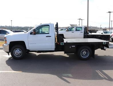 2019 Silverado 3500 Regular Cab DRW 4x4,  Reading Redi-Dek Platform Body #KF159230 - photo 3