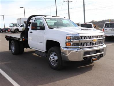 2019 Silverado 3500 Regular Cab DRW 4x4,  Reading Redi-Dek Platform Body #KF162683 - photo 3