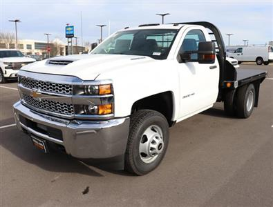 2019 Silverado 3500 Regular Cab DRW 4x4,  Reading Redi-Dek Platform Body #KF162683 - photo 1