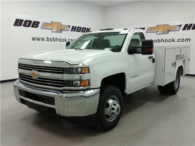 2016 Silverado 3500 Regular Cab DRW 4x4, Reading SL Service Body #161389 - photo 6