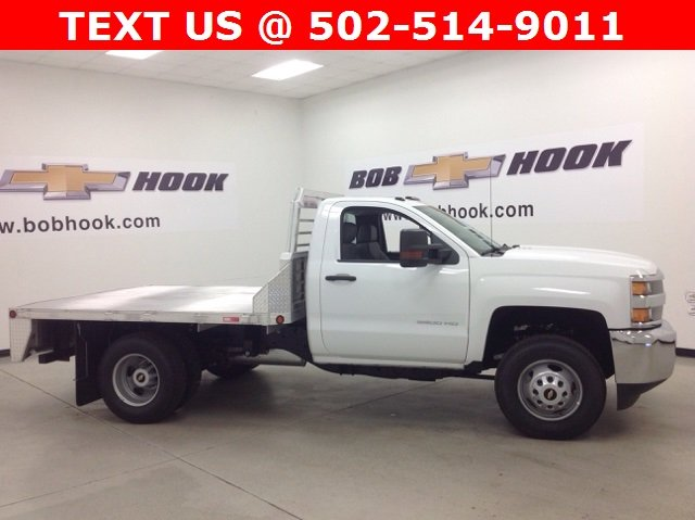 2017 Silverado 3500 Regular Cab DRW 4x4, Duramag Platform Body #171188 - photo 3