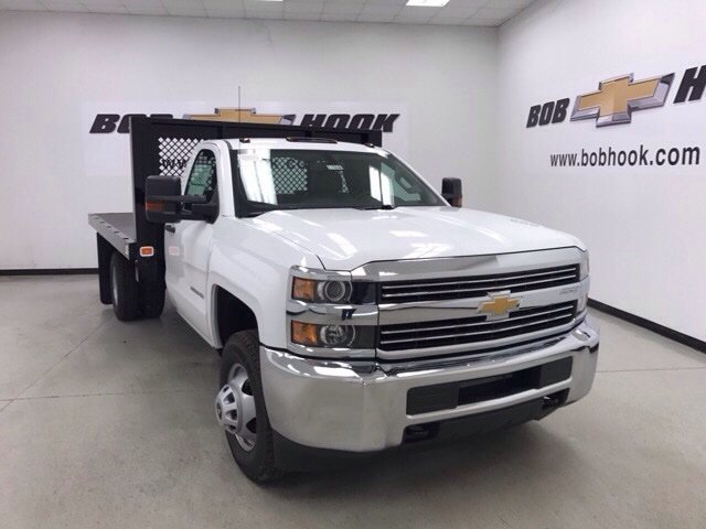 2017 Silverado 3500 Regular Cab DRW,  Monroe Platform Body #171224 - photo 4