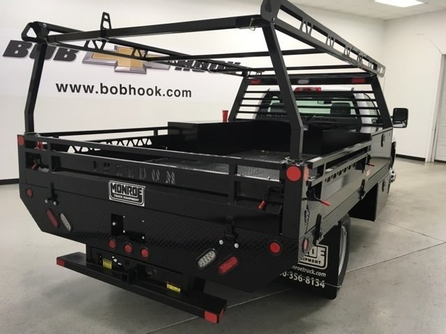 2018 Silverado 3500 Regular Cab DRW,  Freedom Contractor Body #180173 - photo 2