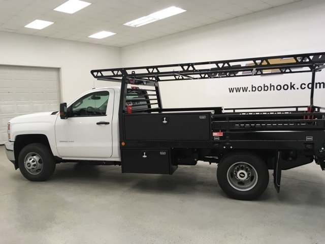 2018 Silverado 3500 Regular Cab DRW 4x2,  Freedom Contractor Body #180173 - photo 6