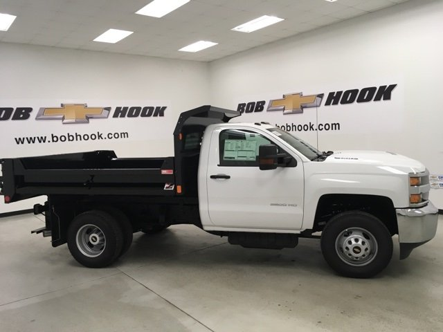 2018 Silverado 3500 Regular Cab DRW 4x4, Monroe Dump Body #180210 - photo 3