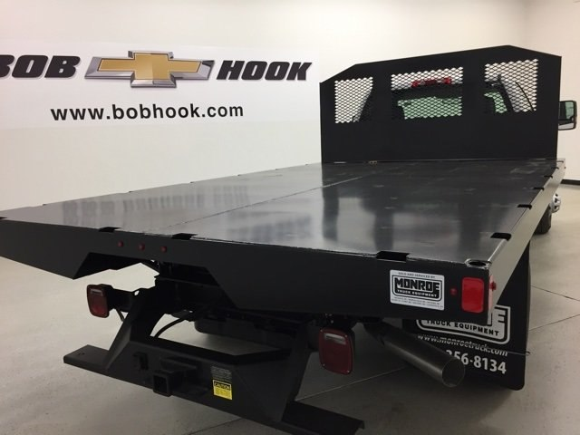 2018 Silverado 3500 Regular Cab DRW 4x4,  Monroe Platform Body #180214 - photo 2