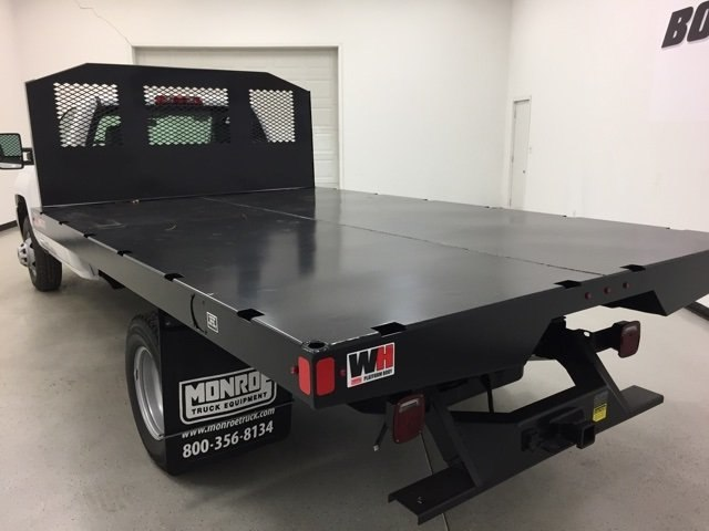 2018 Silverado 3500 Regular Cab DRW 4x4, Monroe Platform Body #180214 - photo 4
