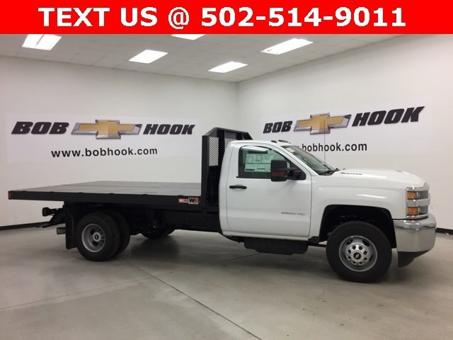 2018 Silverado 3500 Regular Cab DRW 4x4, Monroe Platform Body #180214 - photo 13