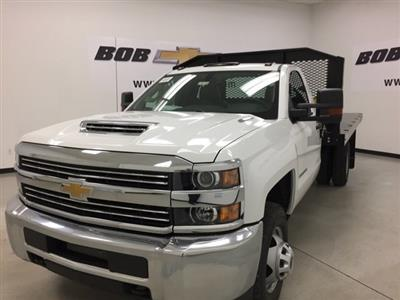 2018 Silverado 3500 Regular Cab DRW 4x4,  Monroe Work-A-Hauler II Platform Body #180214 - photo 3
