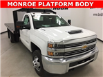 2018 Silverado 3500 Regular Cab DRW 4x4, Monroe Platform Body #180214 - photo 1