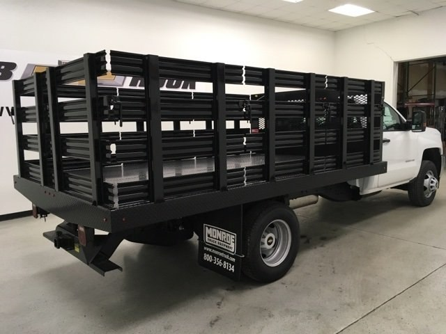 2018 Silverado 3500 Regular Cab DRW, Monroe Stake Bed #180379 - photo 2
