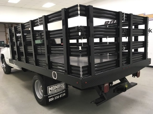 2018 Silverado 3500 Regular Cab DRW, Monroe Stake Bed #180379 - photo 4