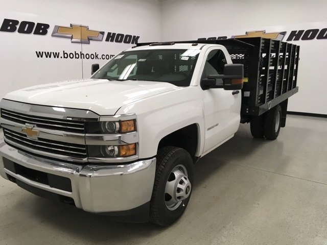 2018 Silverado 3500 Regular Cab DRW, Monroe Stake Bed #180379 - photo 3