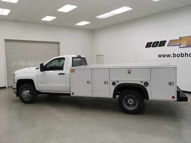 2018 Silverado 3500 Regular Cab DRW 4x4,  Monroe MSS II Service Body #180700 - photo 6