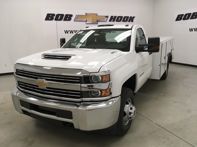 2018 Silverado 3500 Regular Cab DRW 4x4,  Monroe MSS II Service Body #180700 - photo 1