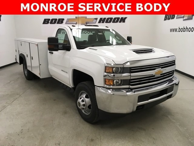 2018 Silverado 3500 Regular Cab DRW 4x4, Monroe Service Body #180700 - photo 22