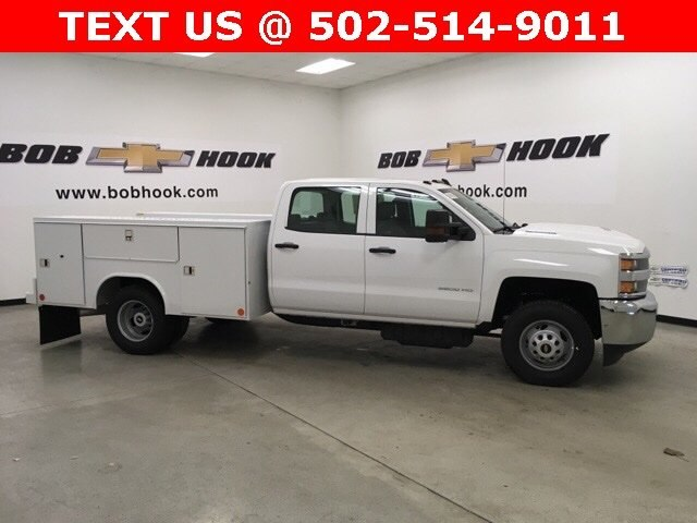 2018 Silverado 3500 Crew Cab DRW 4x4,  Reading Service Body #180891 - photo 3