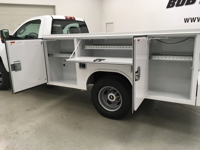 2019 Silverado 3500 Regular Cab DRW 4x4,  Reading SL Service Body #190034 - photo 16