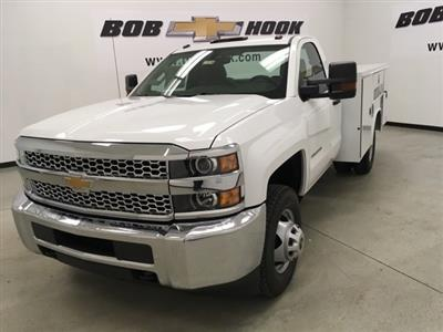 2019 Silverado 3500 Regular Cab DRW 4x4,  Reading SL Service Body #190034 - photo 7