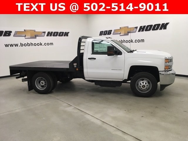 2019 Silverado 3500 Regular Cab DRW 4x4,  Reading Platform Body #190275 - photo 4