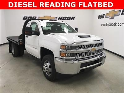 2019 Silverado 3500 Regular Cab DRW 4x4,  Reading Redi-Dek Platform Body #190275 - photo 3