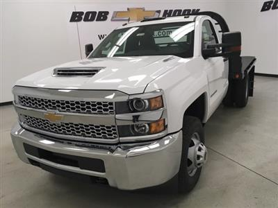 2019 Silverado 3500 Regular Cab DRW 4x4,  Reading Redi-Dek Platform Body #190275 - photo 1