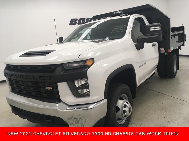 2021 Chevrolet Silverado 3500 Regular Cab 4x4, Crysteel Dump Body #210597 - photo 1