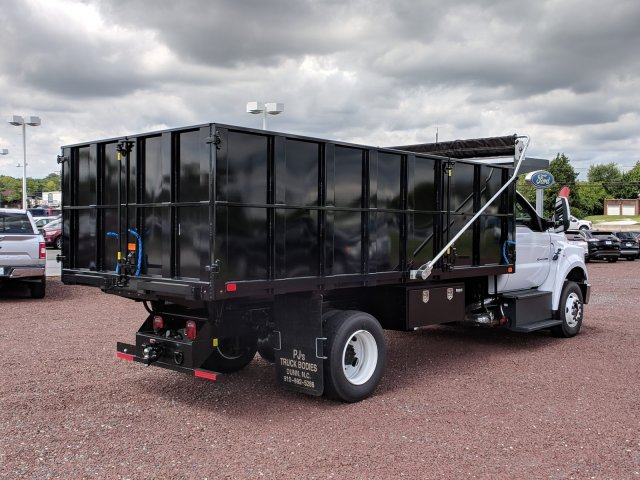 2018 F-650 Regular Cab DRW 4x2,  PJ's Truck Bodies & Equipment Platform Body #J1579F - photo 2