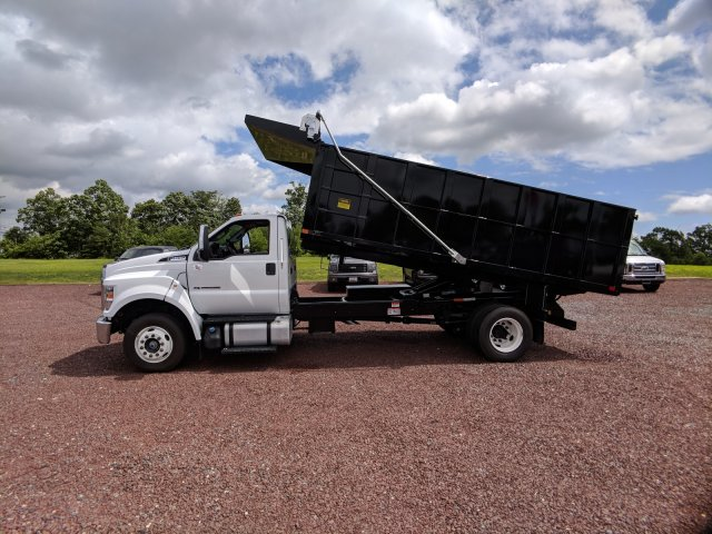 2018 F-650 Regular Cab DRW 4x2,  PJ's Truck Bodies & Equipment Platform Body #J1579F - photo 4