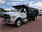 2018 F-650 Regular Cab DRW 4x2,  PJ's Truck Bodies & Equipment Platform Body #J1579F - photo 5