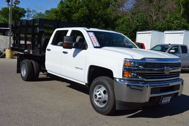 2016 Silverado 3500 Crew Cab DRW 4x4, Monroe Stake Bed #36783 - photo 3