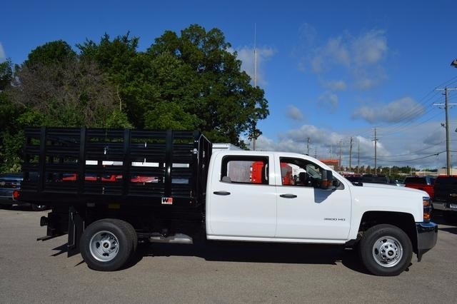 2016 Silverado 3500 Crew Cab DRW 4x4, Monroe Stake Bed #36783 - photo 4