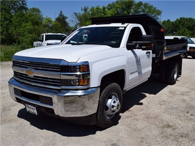 2017 Silverado 3500 Regular Cab DRW 4x4, Monroe MTE-Zee Dump Dump Body #38205 - photo 7