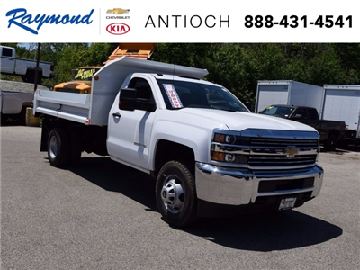 2017 Silverado 3500 Regular Cab DRW 4x4, Monroe MTE-Zee Dump Dump Body #38245 - photo 1