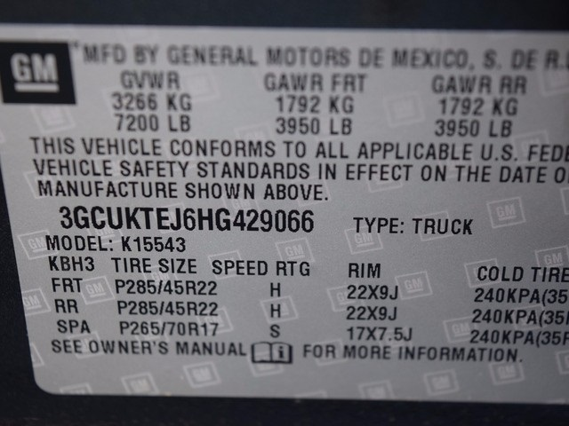2017 Silverado 1500 Crew Cab 4x4, Pickup #38354 - photo 37