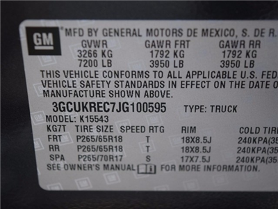 2018 Silverado 1500 Crew Cab 4x4,  Pickup #38955 - photo 38