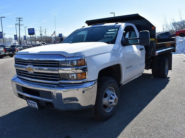 2018 Silverado 3500 Regular Cab DRW 4x4, Monroe MTE-Zee Dump Dump Body #39340 - photo 8