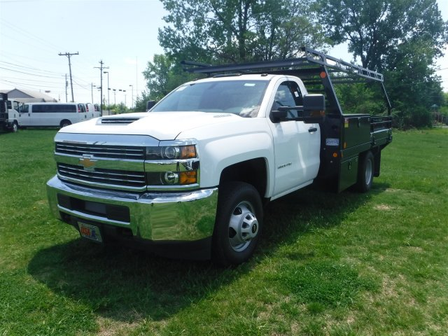 2018 Silverado 3500 Regular Cab DRW 4x4,  Monroe Contractor Body #18502 - photo 4