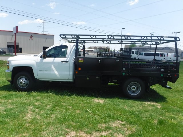 2018 Silverado 3500 Regular Cab DRW 4x4,  Monroe Contractor Body #18502 - photo 5
