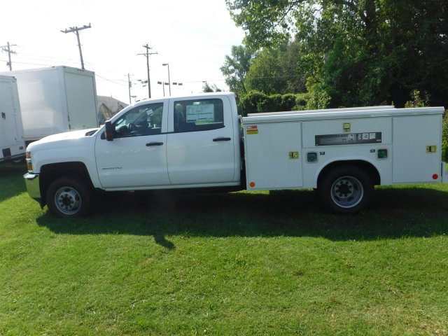 2018 Silverado 3500 Crew Cab DRW 4x2,  Reading Classic II Steel Service Body #18735 - photo 14